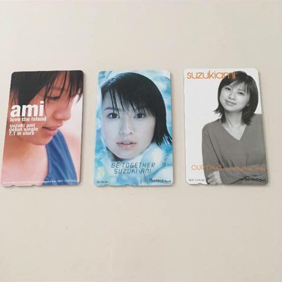 鈴木亜美 テレカ3枚セット 未使用