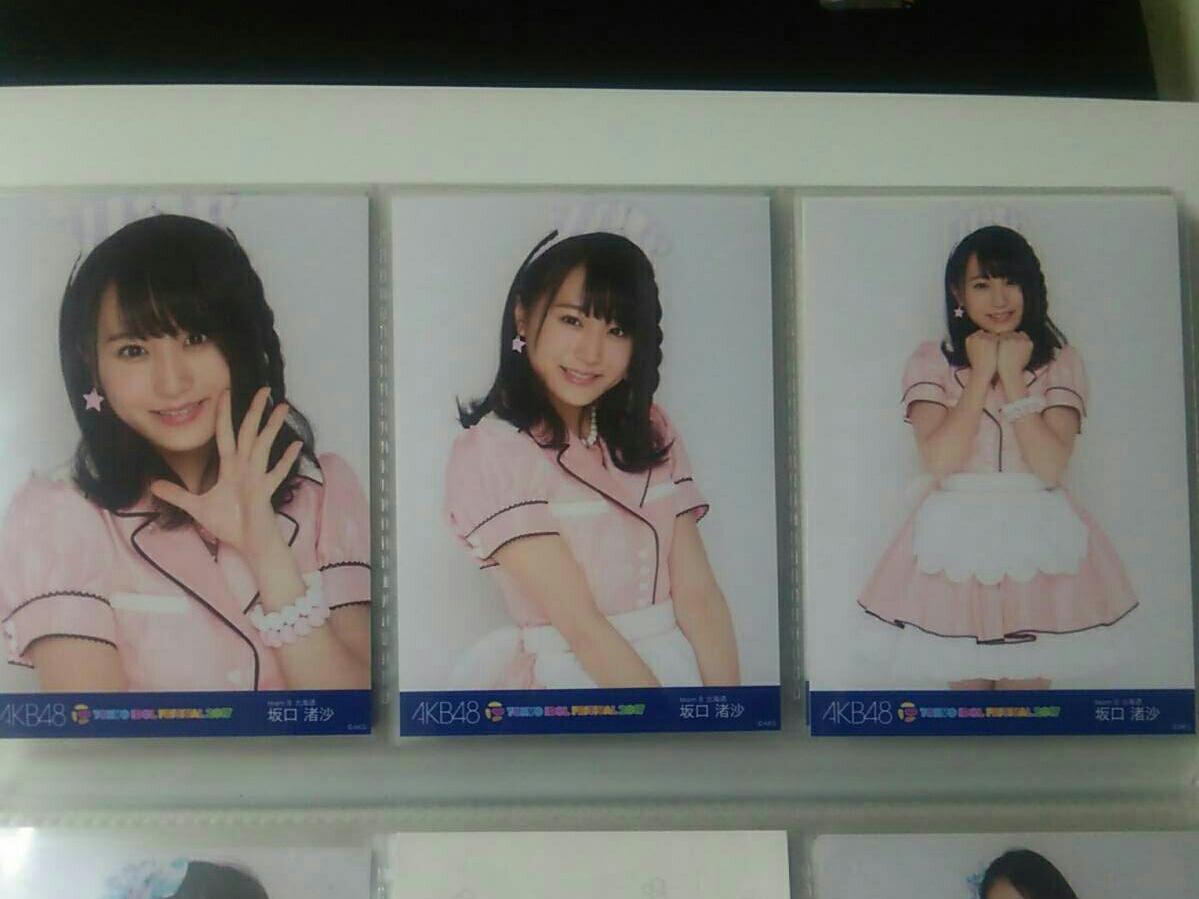 AKB48 チーム8 坂口渚沙 3種コンプ TOKYO IDOL FESTIVAL 2017 会場限定生写真 TIF 東京アイドルフェスティバル ライブ・総選挙グッズの画像