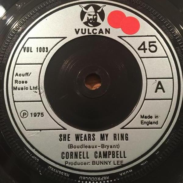 ★Cornell Campbell/She Wears My Ring★メロウLOVERS名作!_画像1