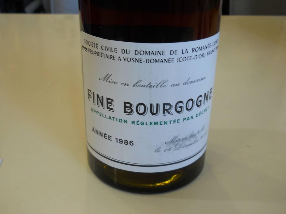 ★ドメーヌ・ド・ラ・ロマネ・コンティ フィーヌ・ド・ブルゴーニュ Romanee-Conti Fine de Bourgogne ANNEE1986