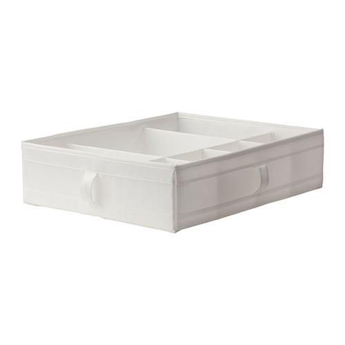 ☆ IKEA イケア ☆ SKUBB ボックス 仕切り付き, ホワイト<収納バック、押入れ 44x34x11 cm> 送料500円 u ☆