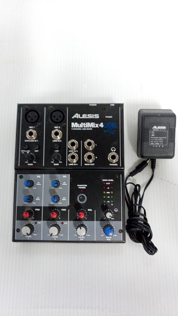 1円~売切★☆ALESIS MULTIMIX 4 USB 4チャンネル デスクトップ ミキサー 音響機材 No.90_画像2