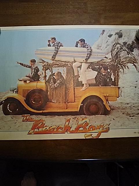 ビーチ・ボーイズ BEACH BOYS 70年代ポスター(未使用)