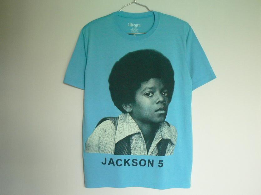[ M ]「 霜みずいろ / マイケルジャクソン ジャクソン5 ビンテージ風 柔 Tシャツ ( 半袖 ) 」 新品 特価!