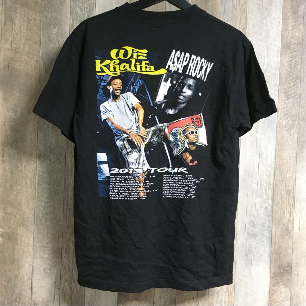 Wiz Khalifa × ASAP ROCKY × B.o.B 2013 ツアー Tシャツ ウィズ・カリファ エイサップ ロッキー vlone