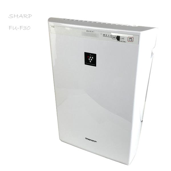 SHARP 加湿空気清浄機 2016年製 プラズマクラスター搭載 FU-F30-W ホワイト シャープ 北ξTK