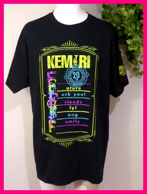 KEMURIケムリ・半袖TシャツL KEMURI 20th Anniversary Tour 2015『F』 @Zepp Tokyo 他 結成20周年を迎えた時の 希少ツアーTシャツです♪