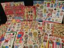 49 着せ替え 紙人形 等 まとめて / 昭和レトロ 駄玩具 ままごと 古い 絵本 駄菓子屋