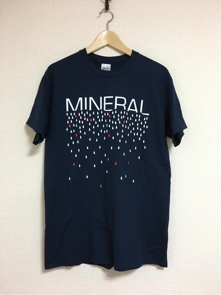 【新品】MINERAL(ミネラル)emoバンドTシャツ 2015年 来日ツアー会場グッズ Mサイズ cd (the get up kids fugazi radiohead)