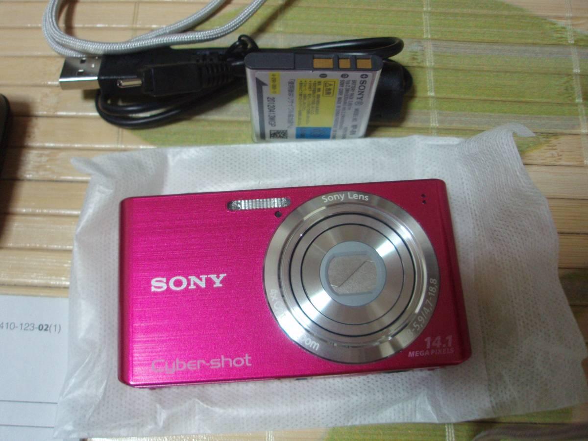H10 SONY Cyber-shot ソニー サイバーショット デジタルスチルカメラ DSC-W610 Pink/Rose 中古 ピンク ローズ デジカメ 箱付_画像2