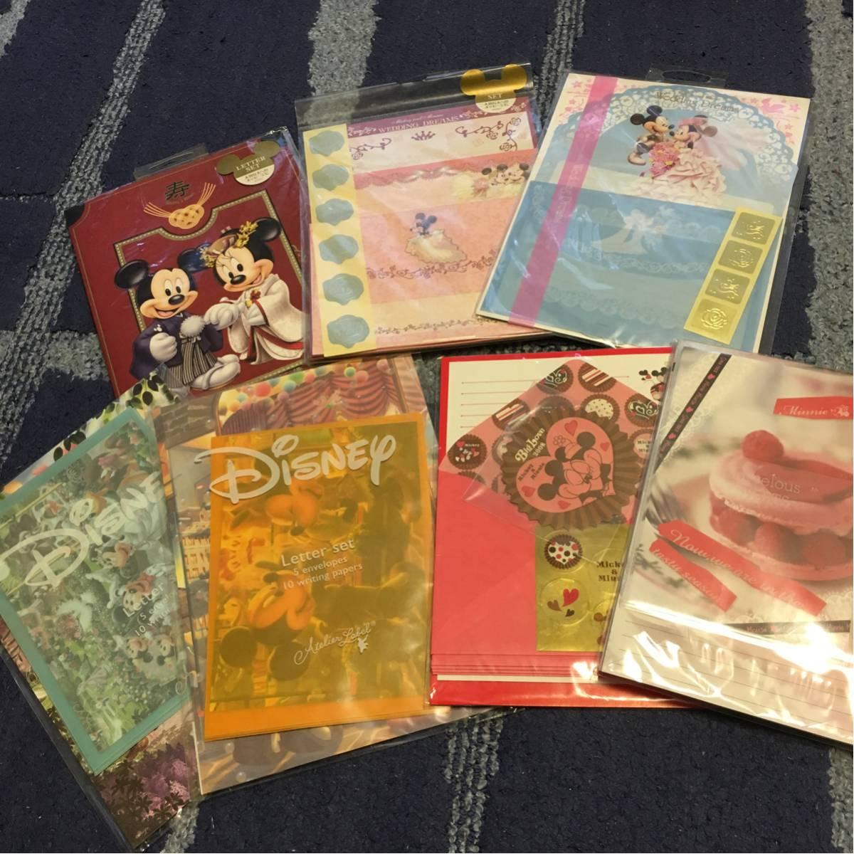 ディズニーレターセット7セット ミッキー ミニー ウエディング ディズニーグッズの画像