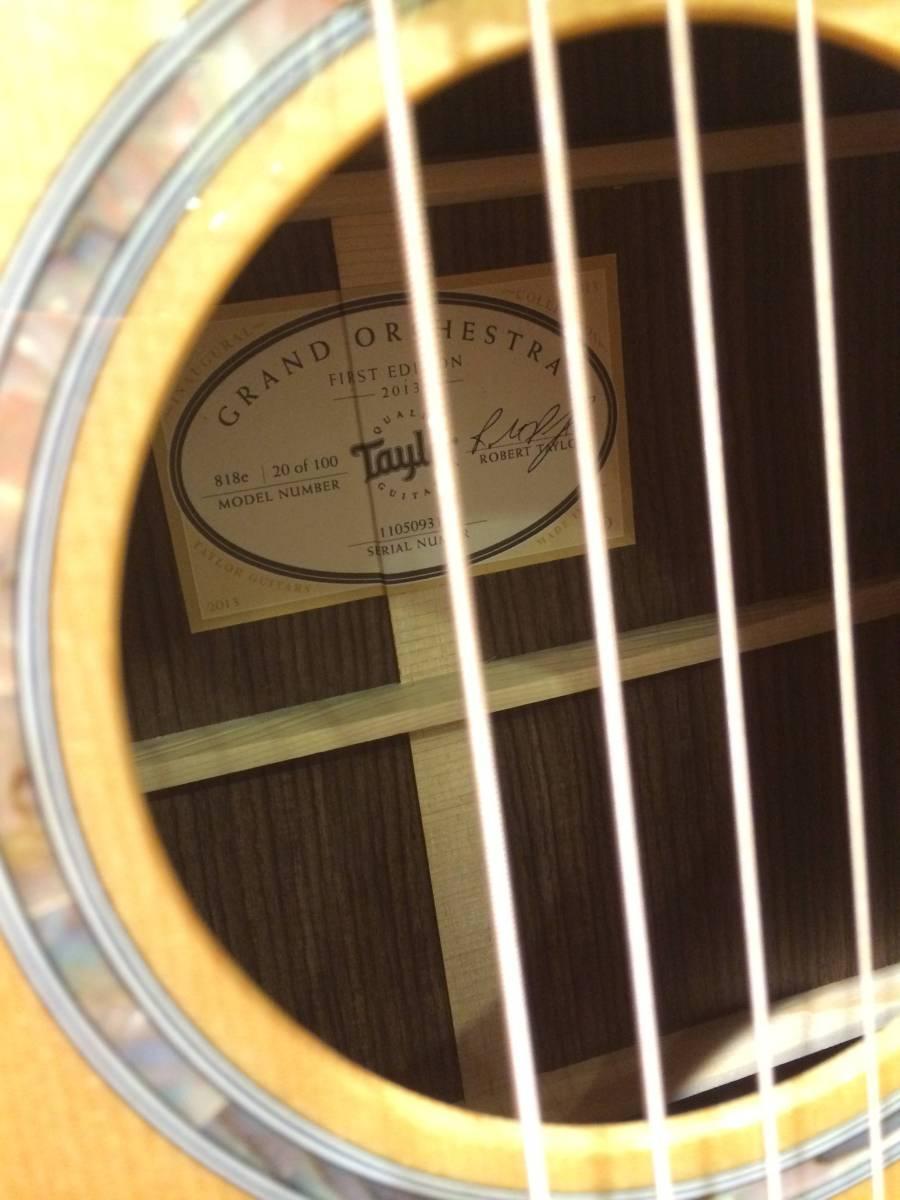 Taylor818e[レア]人気TaylorギターのハイグレードクラスTaylor818eファーストエディションの出品です[美品][定期メンテナンス]