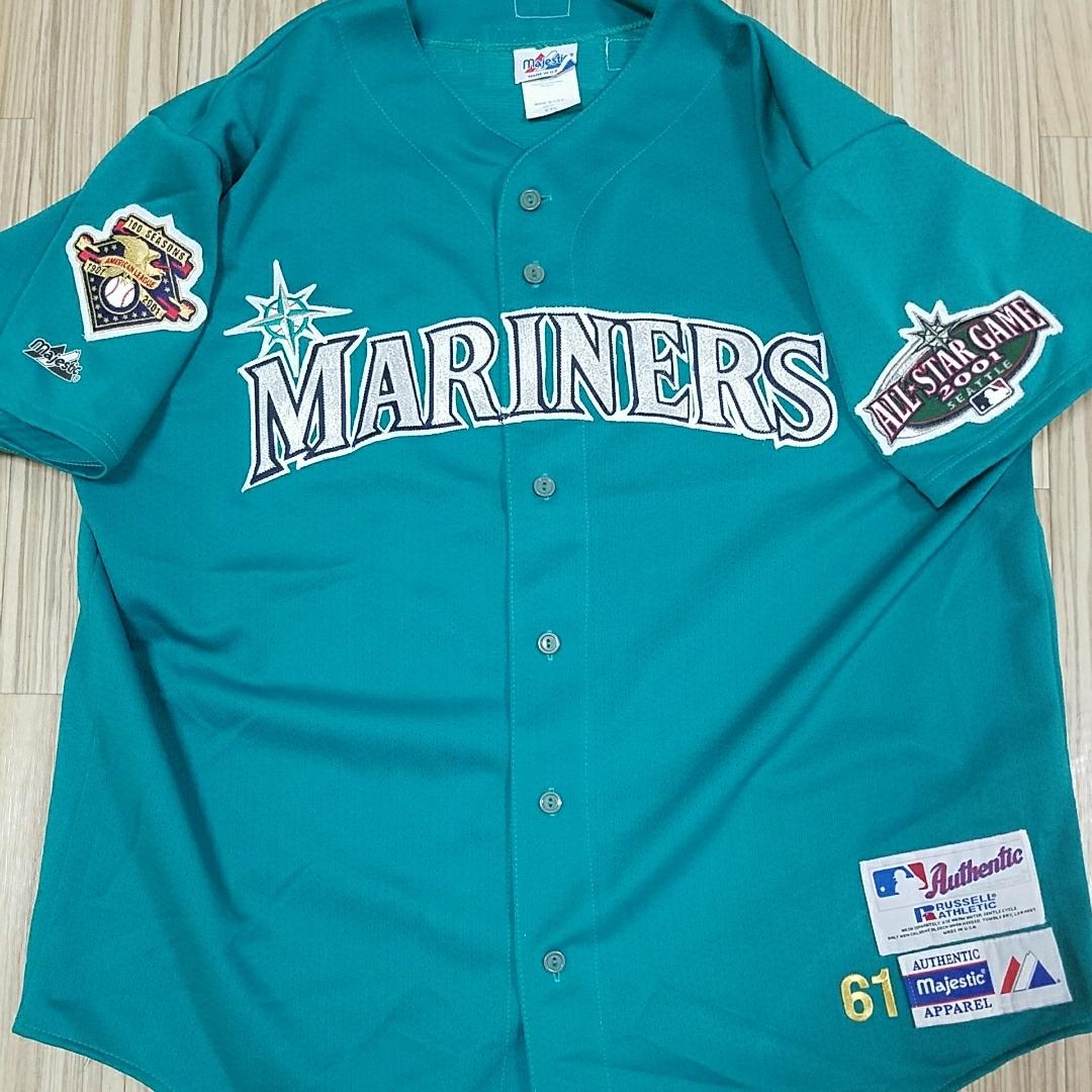 MLB シアトルマリナーズ ユニフォーム 2001 オールスターゲーム 記念ユニフォーム majestic russell オーセンティック グッズの画像