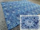 686 古布 藍染 木綿 indigo ふとん皮 5幅 浅葱 着物リメイク 襤褸 らんる 刺し子 裂織等に