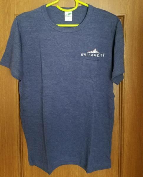 AWESOME CITY CLUB Tシャツ ポケットTシャツ Lサイズ ネイビー バンドTシャツ 2015