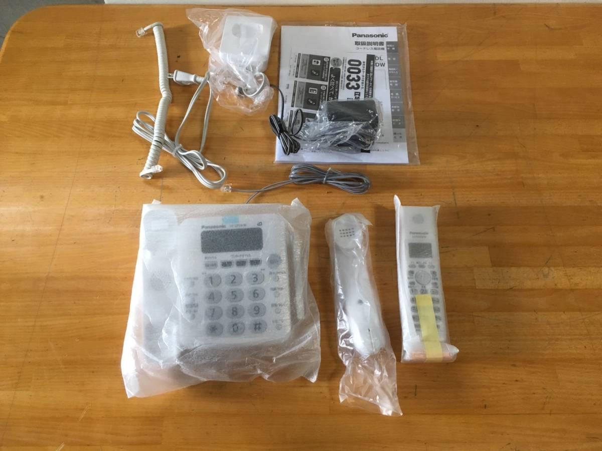 (62) panasonic パナソニック コードレス電話機 RU.RU.RU VE-GP24DL-W 未使用品 子機付き_画像3