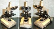 オリンパスシステム3眼生物顕微鏡BHB型・メンテ済/良く見え