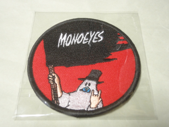 【即決!交渉可!送料無料!】 新品 MONOEYES ワッペン 赤色 / モノアイズ レッド
