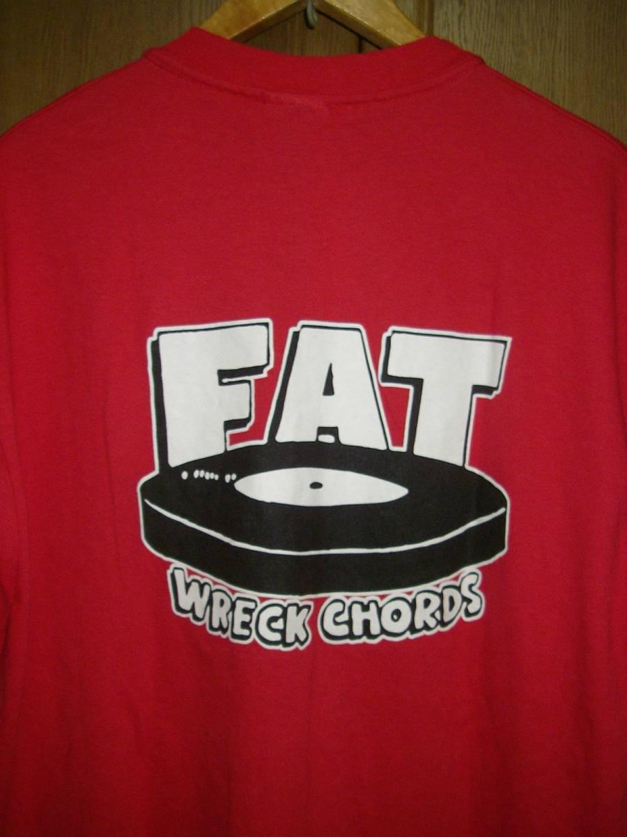 FAT WRECK CHORDS ファットレックコーズ 赤 Tシャツ L ( NOFX ピザオブデス エピタフ ルックアウト ヘイスミス ワニマ ハイスタンダード