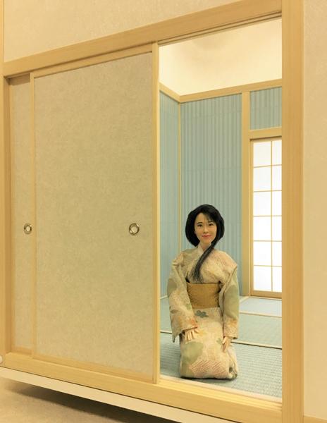 ドールハウス 和室 和風 畳部屋 1/6 サイズ 組立式 ファンシー 日本間。ブライス momoko リカちゃん バービーのミニチュア人形装飾撮影等