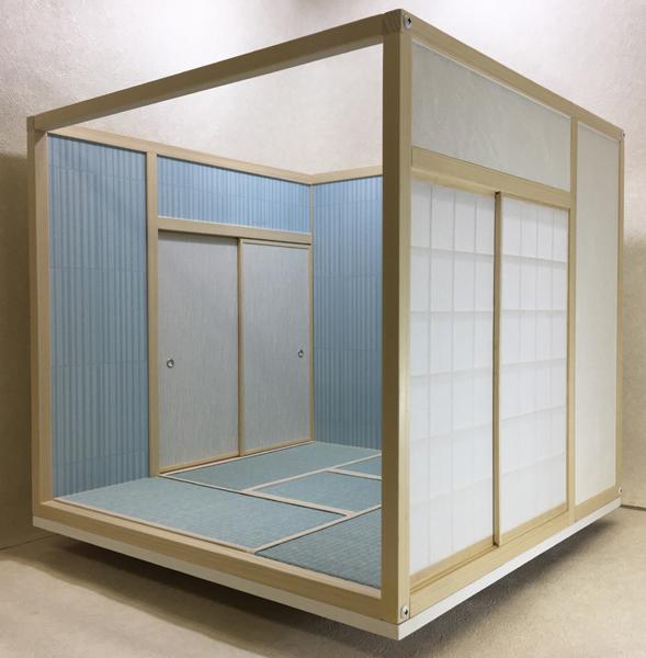 ドールハウス 和室 和風 畳部屋 1/6 サイズ 組立式 ファンシー 日本間。ブライス momoko リカちゃん バービーのミニチュア人形装飾撮影等_画像2