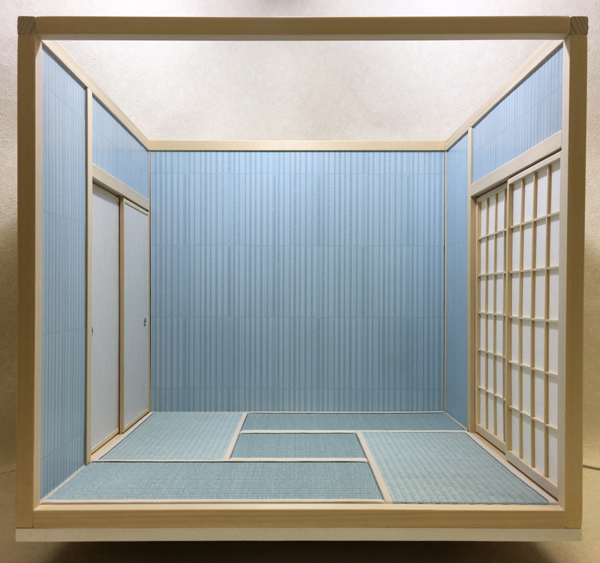ドールハウス 和室 和風 畳部屋 1/6 サイズ 組立式 ファンシー 日本間。ブライス momoko リカちゃん バービーのミニチュア人形装飾撮影等_画像3