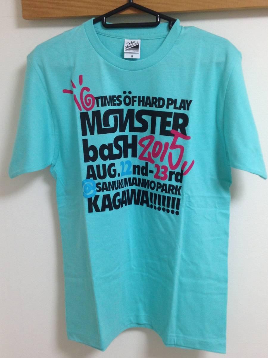 MONSTER BASH 2015 Tシャツ S 未着用 検:クリープハイプ 氣志團 キュウソネコカミ Perfume くるり 10-FEET チャットモンチー