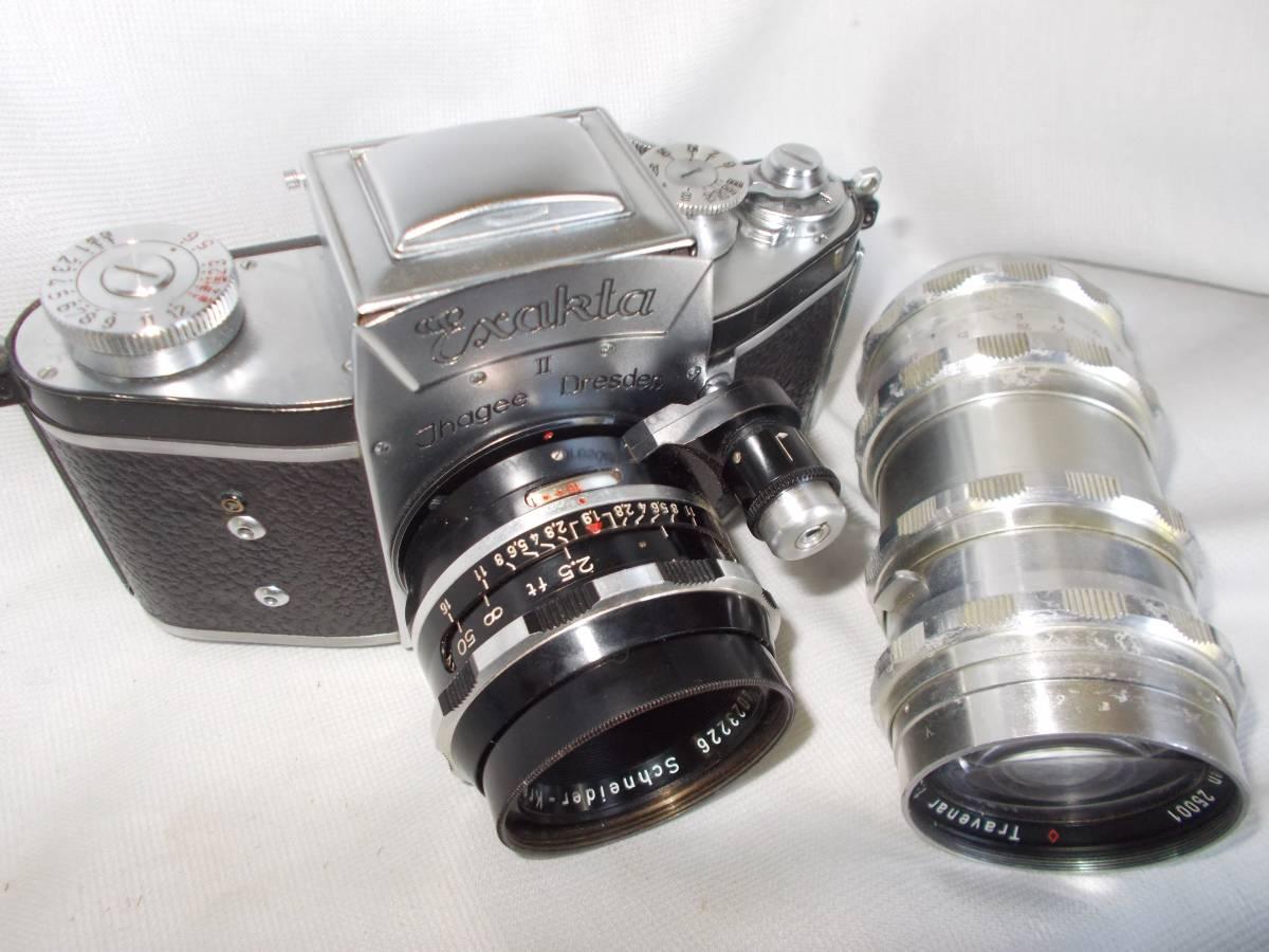 エクザクタVXクセノン50mmF1,9 トラベナー135mm(ジャンク)