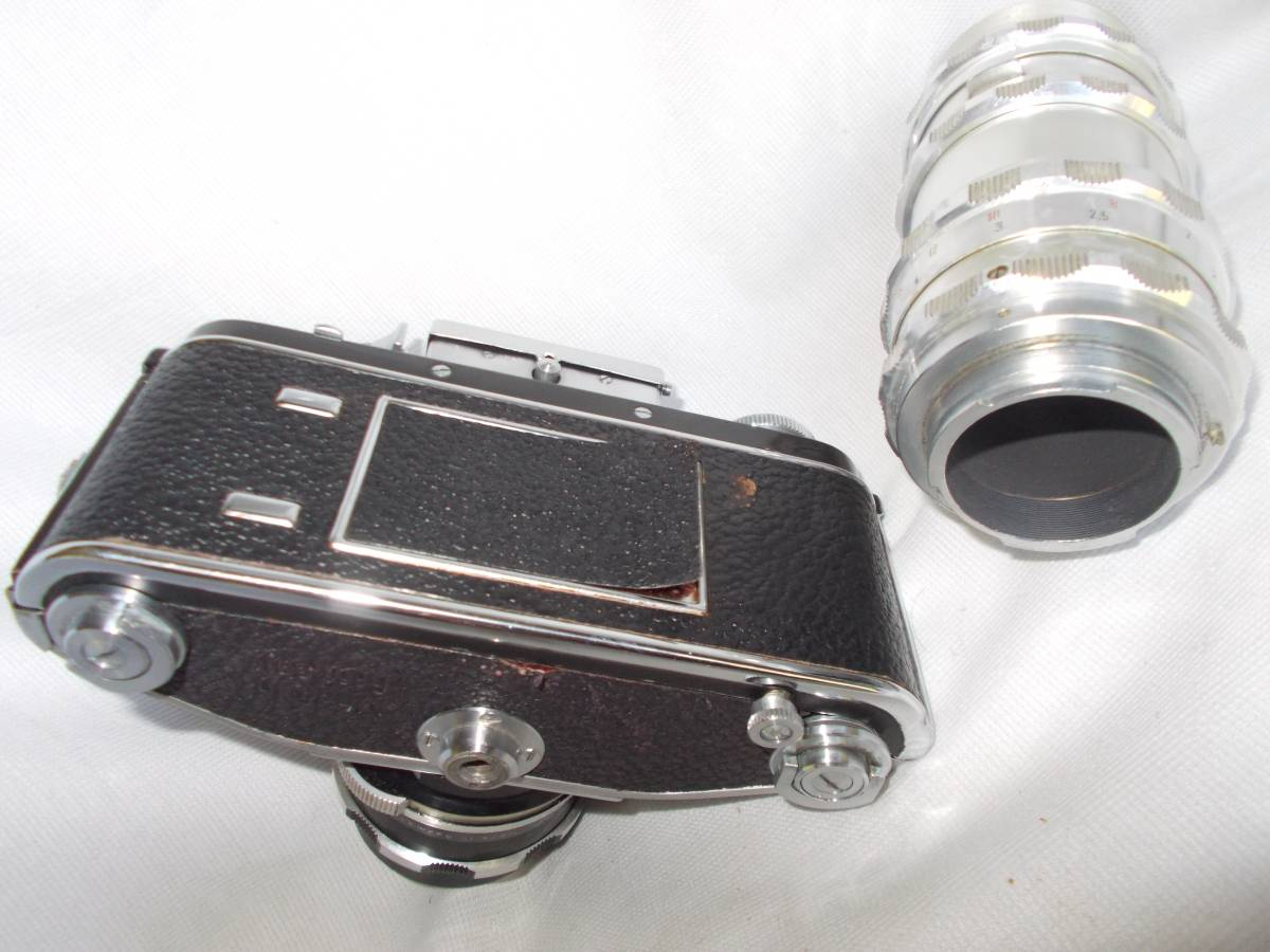 エクザクタVXクセノン50mmF1,9 トラベナー135mm(ジャンク)_画像2