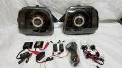 ☆美品☆JB23 ジムニー ダブルCCFLプロジェクターヘッドライト HID 純正ヘッドライト加工品