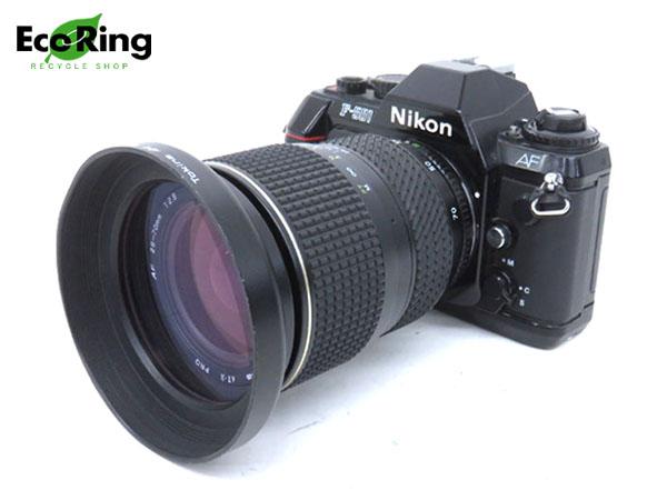 1円 ニコン F-501 一眼レフ フィルムカメラ& Tokina AT-X PRO AF 28-70mm 1:2.8 レンズ セット HD686
