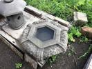 ■出雲 石灯籠 一点物『 創作水鉢 2尺1寸 葉月ノ陸形 』土江明夫石材