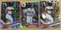 最新2017 Topps Chrome Andrew Benintendi Red Sox RC Prizm Ref 30th Insert Ref Base 3枚