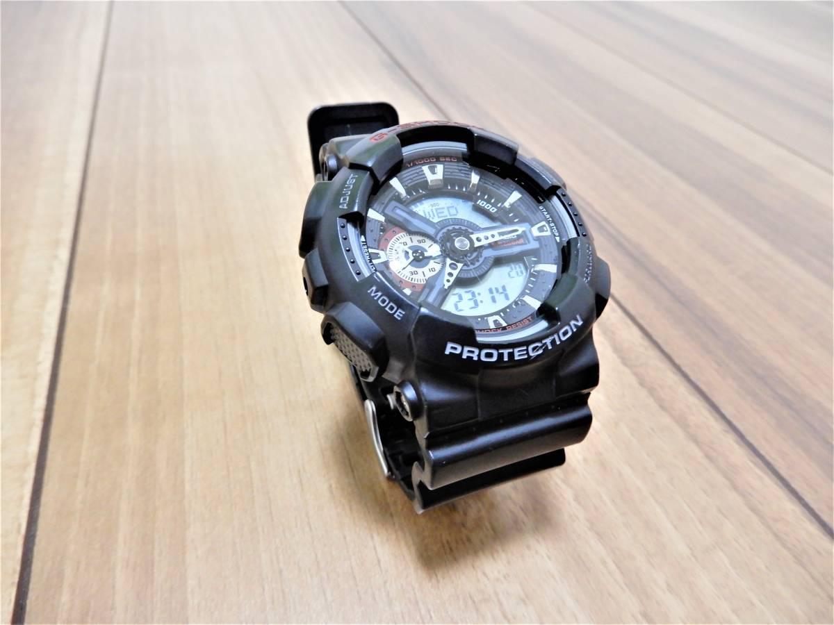 超美品 カシオ G-SHOCK 速度計測機能付 GA-110-1AJF ブラック/レッド 黒/赤 電池あり 販売終了モデル 腕時計 希少