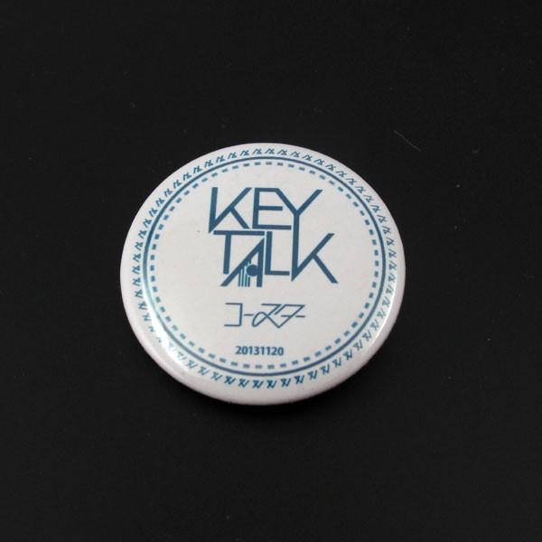 KEYTALK キートーク★特製 コースター 缶バッジ★メジャーデビュー シングル「コースター」 タワーレコード特典 タワレコ★中古 非売品
