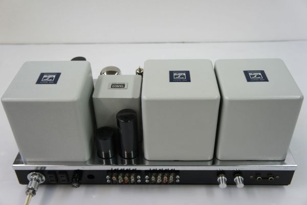 E073サ】自作 真空管パワーアンプ 難あり TANGO:X-5P×2、GOLD LION KT88 ×4真空管_画像3