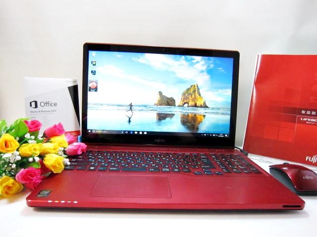 最落なし!Windows10 富士通AH77/R 全部付き8GB/高速新品SSD240GB/Office Home and Business 2013/タッチパネル搭載!
