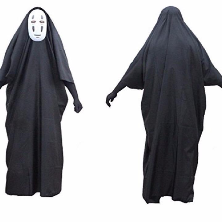 Lサイズ千と千尋の神隠し カオナシ 衣装セット男女共用コスプレ グッズの画像