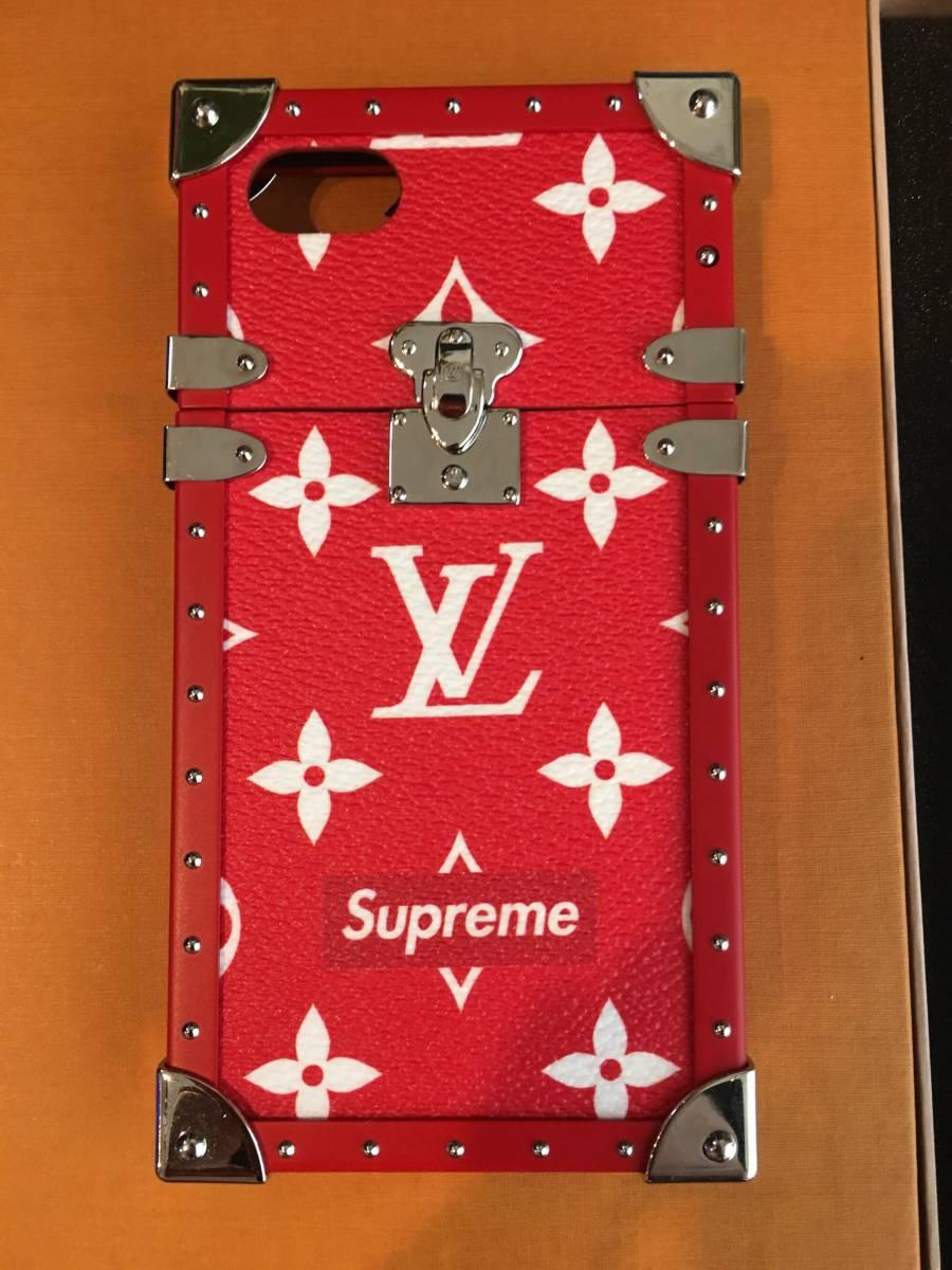 国内正規品7月7日ポップアップストア当選品Louis Vuitton Supreme トランクケース ルイヴィトン シュプリーム Eye-Trunk for iPhone 7