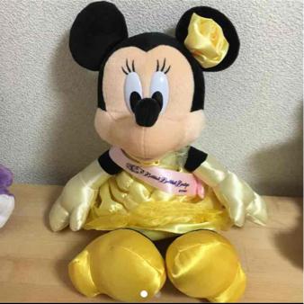ディズニー ミニー 美女と野獣 ぬいぐるみ ディズニーグッズの画像