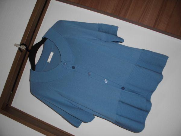 値下 ワールド CORDIER 爽やかなブルー青カーディガン サイズ42 L程度 涼しい 気持ちの良い素材 上質なお品 軽井沢プリンスアウトレット