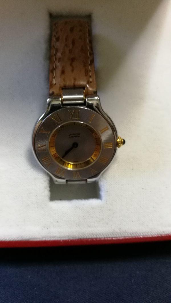 ★おすすめ★カルティエ Cartier must de 21 お勧めおしゃれ本物純正時計 ギャランティカードなし正規箱のみあり フランス時計★_画像2