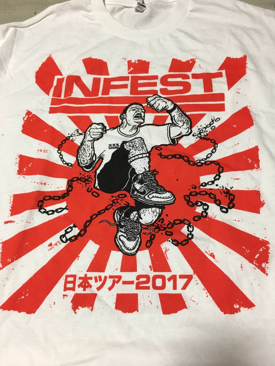 INFEST Tシャツ サイズL パワーバイオレンス NYHC ALL OUT WAR INTEGRITY