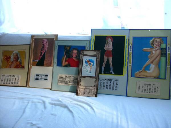 ビンテージ ピンナップカレンダーのコレクション Marilyn Monroe マリリンモンロー ジーンマンスフィールド Jayne Mansfield グッズの画像