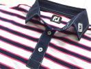 新品◆フットジョイ Foot Joy マルチストライプ ストレッチ 半袖ポロシャツ/サイズXL