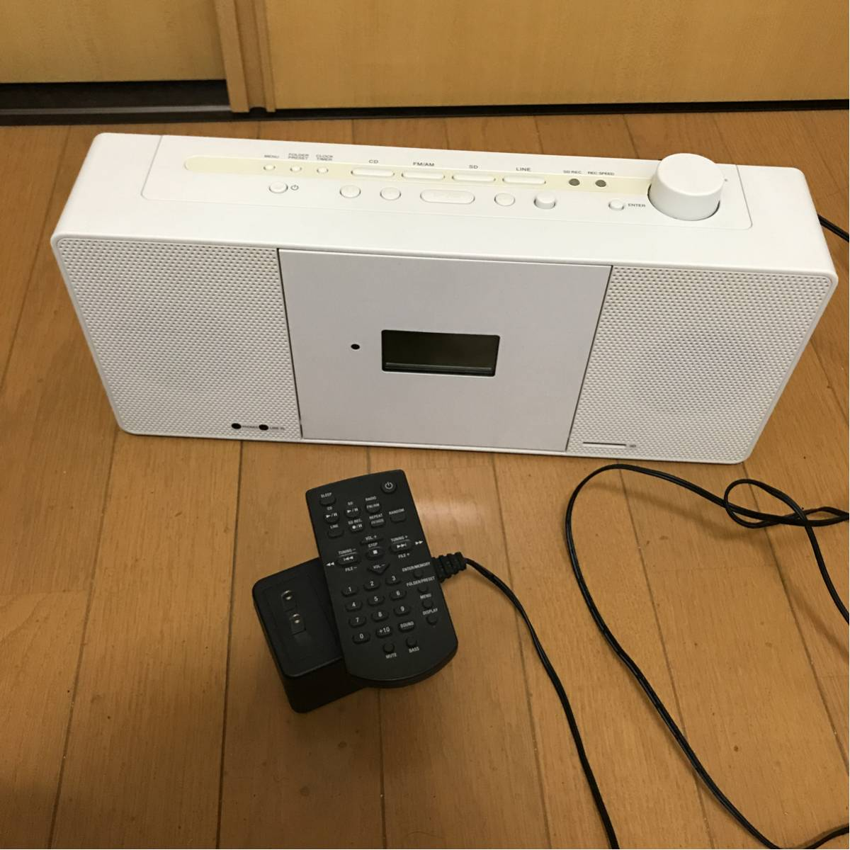 無印良品 CD ラジオ プレイヤー DTR-N5(W) 難あり