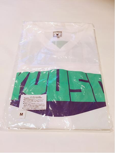 新品未開封☆キュウソネコカミ☆フットボールシャツ Mサイズ キュウソ グッズ 急速速乾オリジナルドライTシャツ
