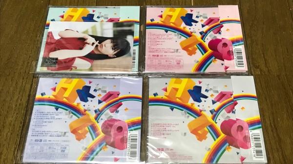 HKT48 10thシングル「キスは待つしかないのでしょうか?」 初回盤CD+DVD3種、劇場盤CD 4枚 写真1種付 封入生写真、握手券無し_画像2