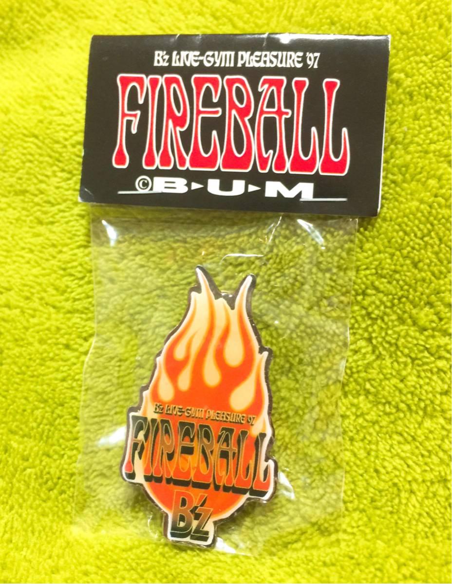 【新品未使用】B'z ピンバッジ FIREBALL LIVE-GYM '97 Pleasure稲葉浩志 松本孝弘 ビーズ限定 ガチャ 会場 ツアー グッズ ピンバッチ C'mon