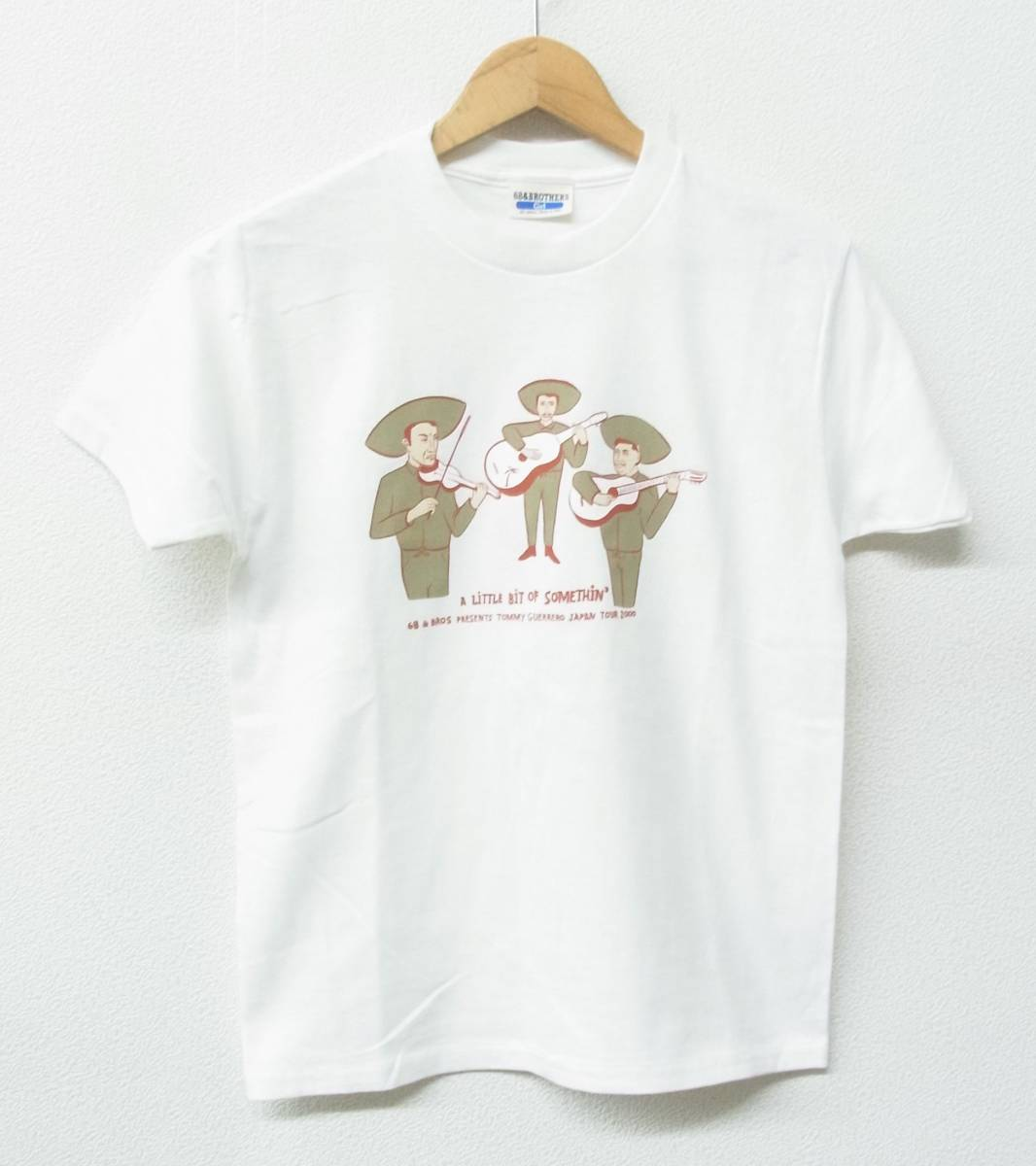 68&BROTHERS PRESENTS Tommy Guerreroトミーゲレロ 2000 JAPAN TOUR Tシャツ *COLOR WHITE マリアッチ*MADE IN USA*GIRLS ①